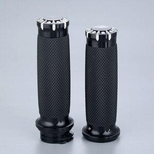Image 1 - Резиновые рукоятки для мотоцикла, 25 мм, 7/8 дюйма, алюминиевые рукоятки для Honda, Yamaha, Suzuki, Kawasaki