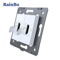 Rainbo Brand Manufacturer Free Shipping White Materials DIY Accessory Function Key For HDMI Socket EU Standard