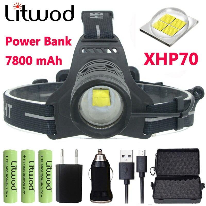 Z20 Litwod 2810 32 W Chip Xhp70 High Power Led Scheinwerfer 32000lum Leistungsstarke Scheinwerfer Kopf Lampe Taschenlampe Kopf Licht Scheinwerfer