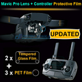 5pcs/set Mavic Lens Glass Film 3pcs + Remote Controller Screen PET Film Protective Film 2pcs for Mavic Pro