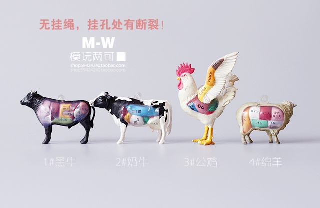 Anime 45cm Pvc Genuine Bulk Anatomy Small Animal Model Cattle Farm