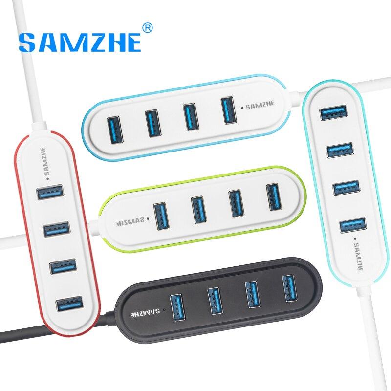 SAMZHE Super Speed USB 3.0 4-Port USB HUB Splitter Desktop USB Extension 5 Color Fashionable USB HUB for PC Computer Macbook