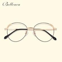 Bellcaca Spectacle Frame Women Round Titanium Eyeglasses Computer Optical Clear Lens Vintage Eye Glasses For Female BC791