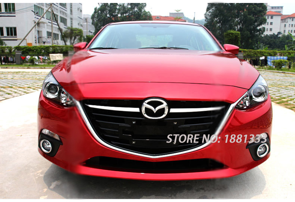 Ttcr Ii For Mazda 3 M3 Axela 2017 Front Grille Grill Cover Trims Abs Chrome 2pcs Set Auto Exterior Accessories Car Sticker In Chromium Styling From