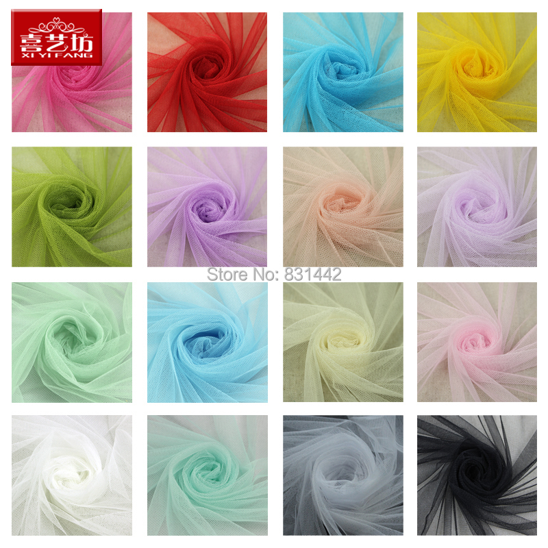 Soft yarn Skirts wedding dress headdress decoration mosquito nets bridal veil fabrics tulle silk lanas ovillos curtain len - May Star Trading Co., Ltd. store
