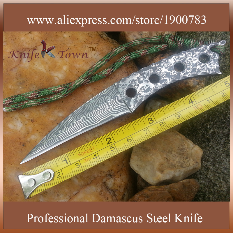 DT108 Sharp damascus steel blade font b knife b font multi mini bayonet font b knife