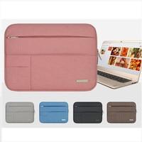 Men Women Soft Nylon Notebook Sleeve Multi Pocket For Macbook Pro Air Retina 11 13 Inch
