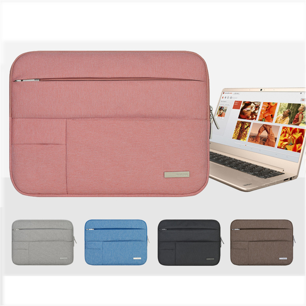 Image 2 - Men Women Soft Nylon Notebook Sleeve Multi Pocket for Macbook Pro/Air Retina 11 13 inch Laptop Bag Case For Mac 13.3-in Laptop Bags & Cases from Computer & Office