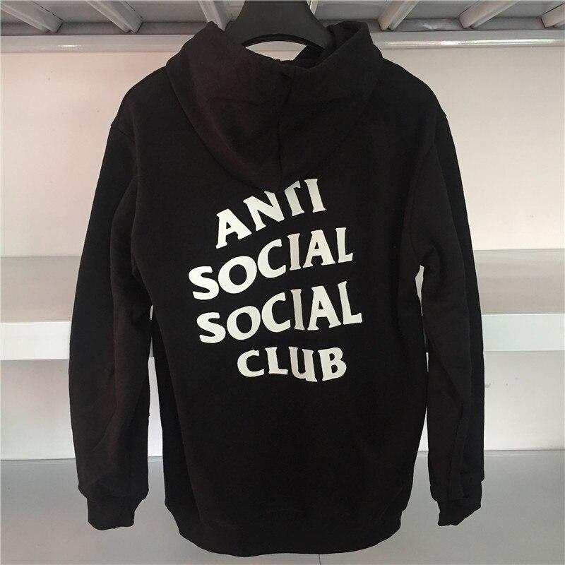 2059637b5d68 Anti Social Social Club Hoodies Kanye Hoodie Pink black white Hip Hop  Sweatshirt High Quality Anti Social Social Club Hoodies