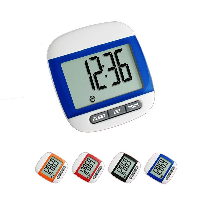 Hot Sale Fitness Waterproof Step Movement Calories Counter Mini Pedometer Body Building Multi-Function Digital Pedometer 5Colors