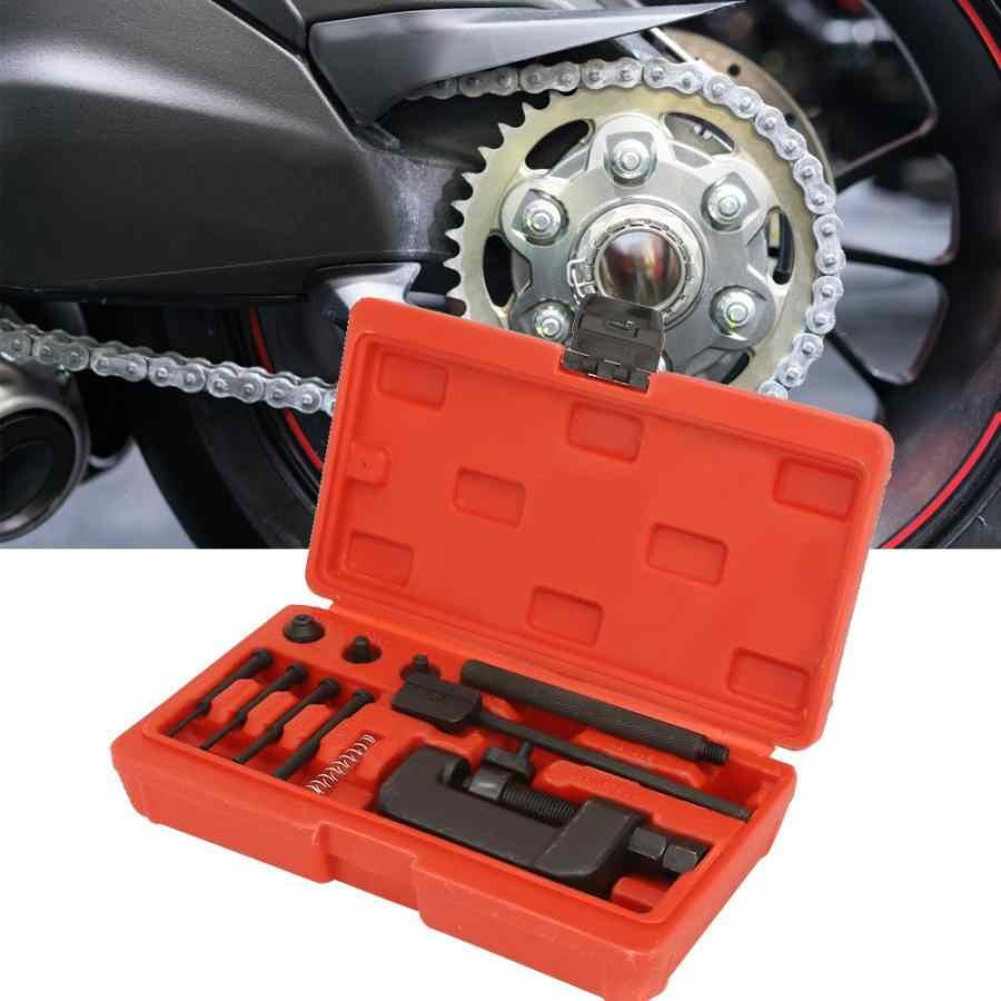 Цепь для ремонта мотоцикла выключатель сплиттер ссылка клепальщик клепальный набор инструментов для ремонта мотоциклов набор ручных инструментов для ремонта велосипеда