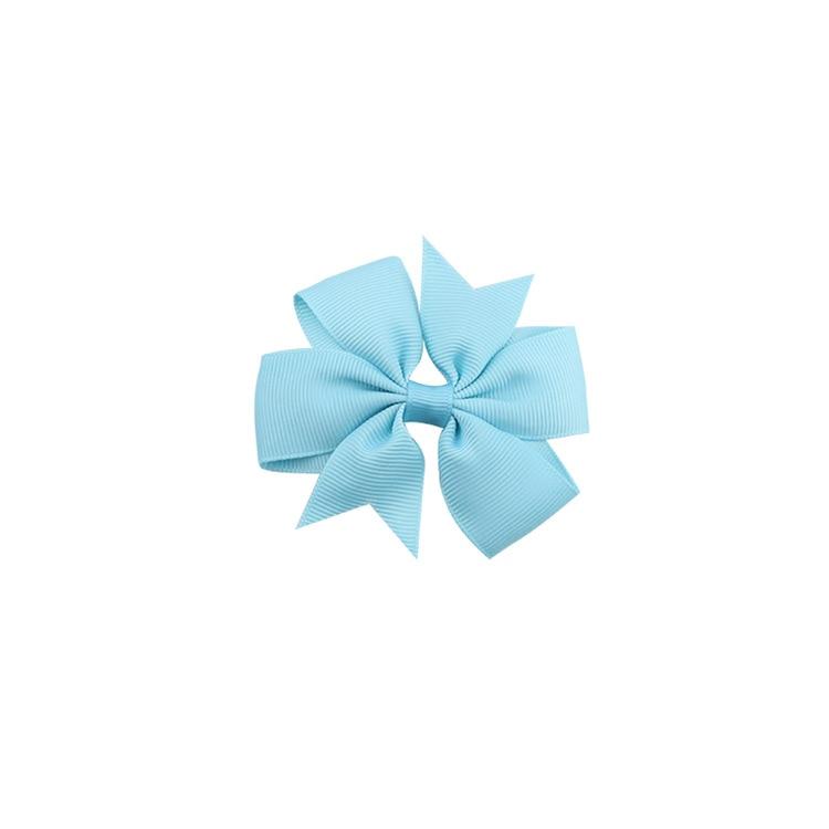 40 цветов сплошная корсажная лента банты заколки шпилька девушка бант для волос, бутик заколки для волос аксессуары для волос - Color: a07 Peacock Blue
