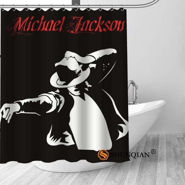 16 Michael jackson shower curtain washable thickened 5c64f7a44eda9