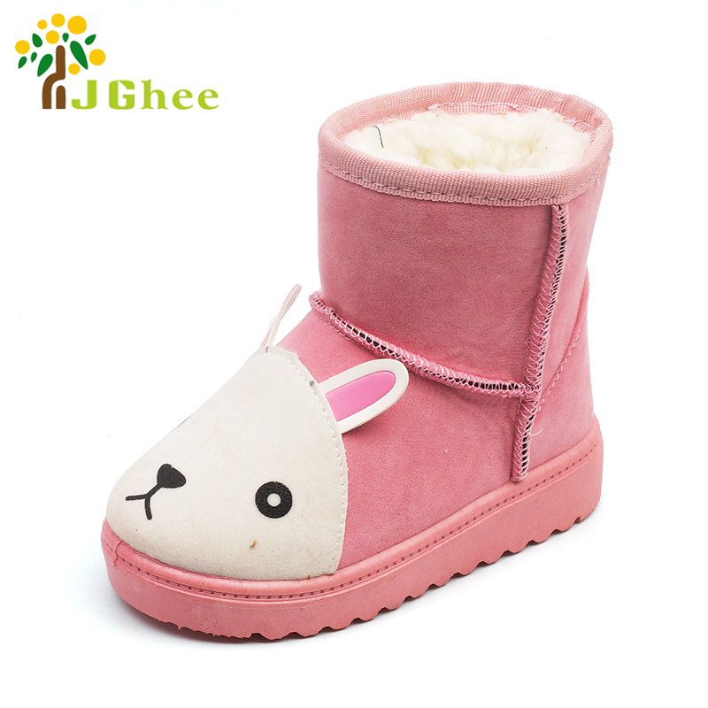 J Ghee Unisex Snow Boots For Boys Girls Fashion Cute Cartoon Animal Kids Winter Shoes Ch ...