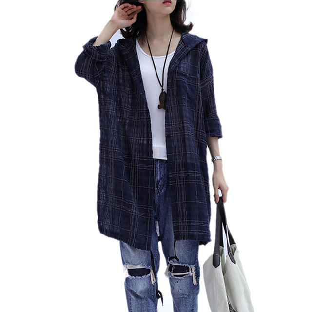 Plus Size 4XL 2018 Summer Women Fashion Elegant Plaid Letter Bolero Tops Ladies Female Big Cotton Linen Thin Outwear Jacket Coat 2