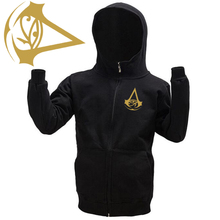 High Quality Autumn Winter Zipper Black Hoodie Assassins Creed Origins Cotton Coat White Grey Syndicate(China)