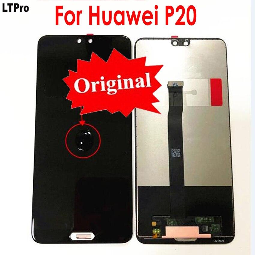 Original meilleur travail LCD écran tactile écran numériseur assemblée pour Huawei P20 EML-AL00 L29 L22 L09 téléphone capteur pièces