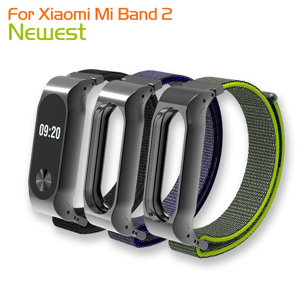 8 Color For Xiaomi Mi Band 2 Wrist Strap Belt Nylon Colorful Wristband with Metal Frame for Mi Band 2 Smart Bracelet Accessories цена