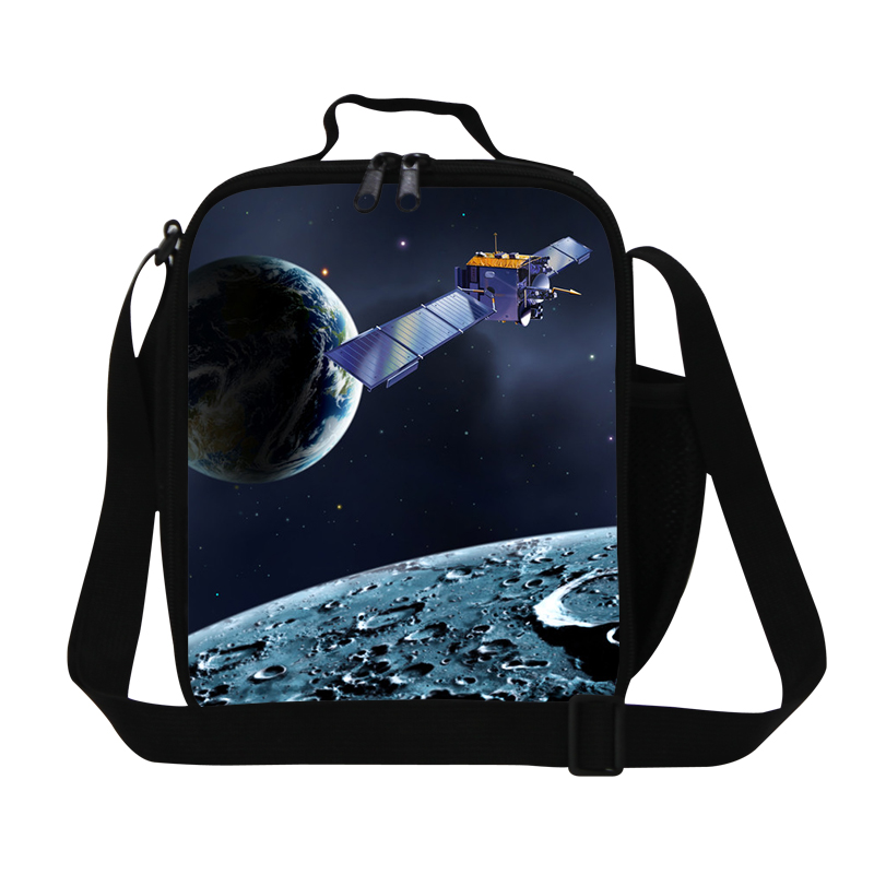 Universe 3D Print Portable Lunch Bag For Boys Multifunctional Personalized Cooler Bag Outer Space Lunch Box Kids Picnic Bags