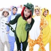2018 Women Pajamas Animal Stitch Unicorn Panda Pajamas Adult Unisex Pajama Sets Winter Warm Flannel Sleepwear