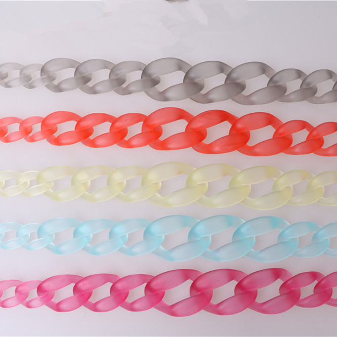 Plastic Acrylic Resin Strap For Bag handbag Coin Purse Clasp Aceesories For Bag Handle Strap Alca Bolsa Obag Handle Resin Chain ...
