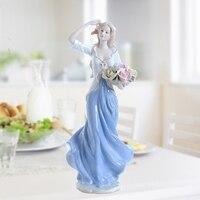High Grade Ceramic Goddess Girls Lady Figurines Home Decor Crafts Room Decor Wedding Handicraft Ornament Porcelain