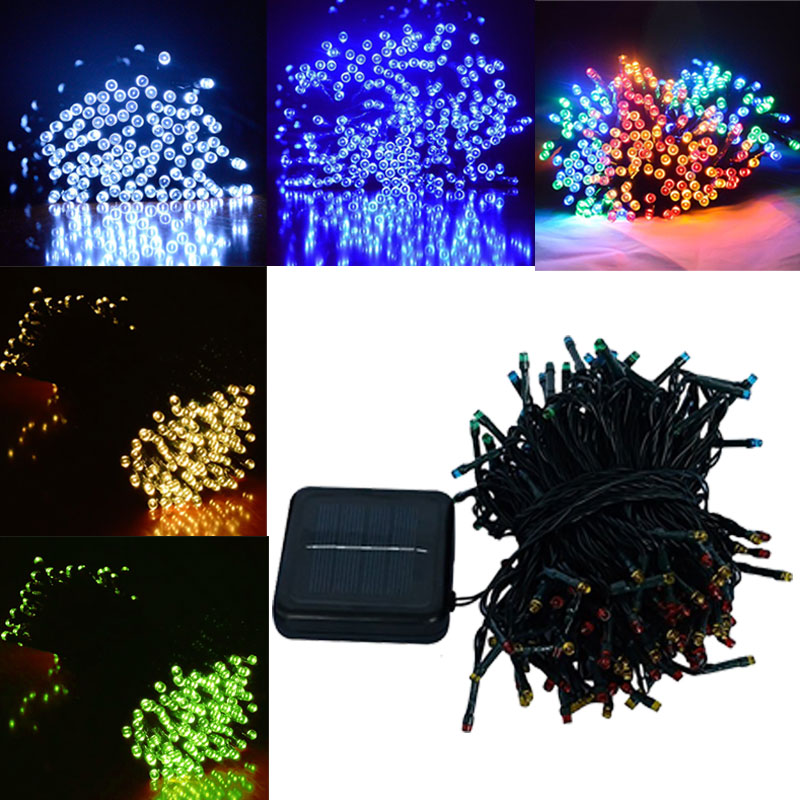 Solar Powered Outdoor String Lights 22M 200 Leds Solar Fairy String Lights for Outdoor Gardens Homes Party Christmas Ho ALI88 ledertek solar christmas lights 22m 200 led multi color 8 modes solar fairy string lights for outdoor wedding christmas party