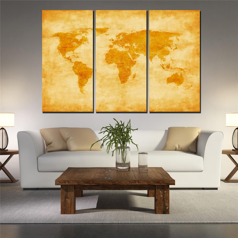 Best World Map Wall Art Framed Gallery - The Wall Art Decorations ...