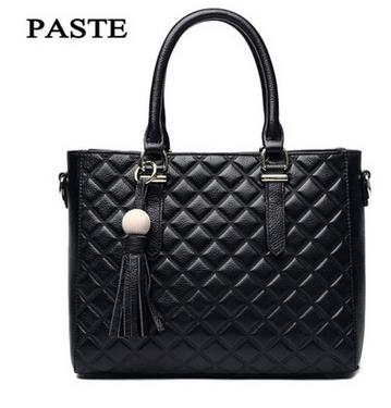 Fall and winter new Princess bag The first layer of leather lattice hand Messenger bag Stereotypes