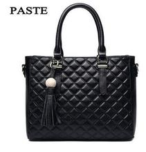 Fall and winter new Princess bag The first layer of leather lattice hand Messenger bag Stereotypes Hanging Tassel tide leath