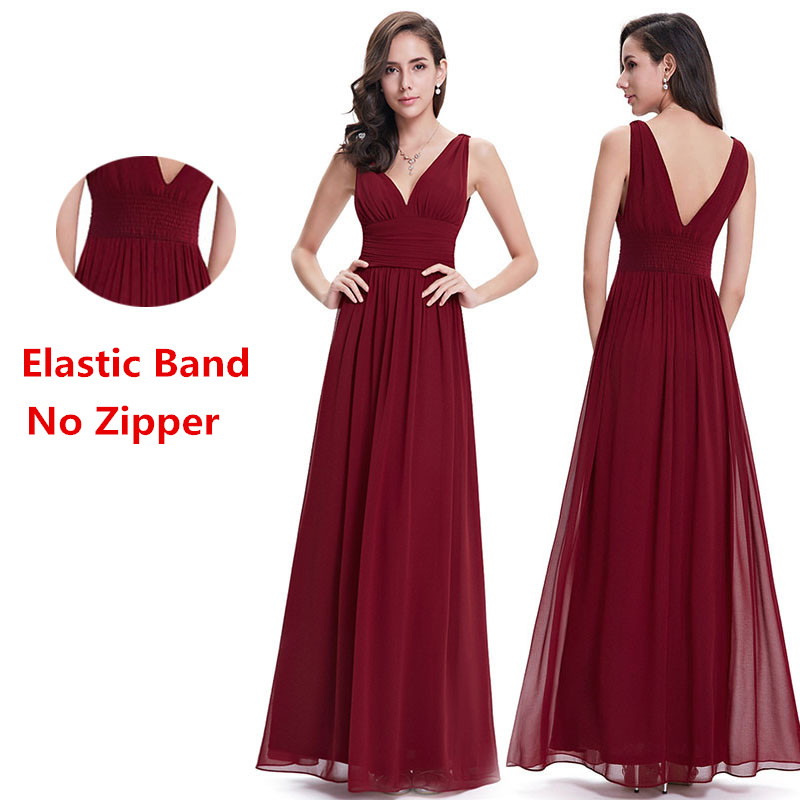 Image 3 - Cheap Long Chiffon Plus Size Bridesmaid Dresses 2019 A Line Vestido De Festa De Casamen Formal Party Prom Dresses for Wedding-in Bridesmaid Dresses from Weddings & Events