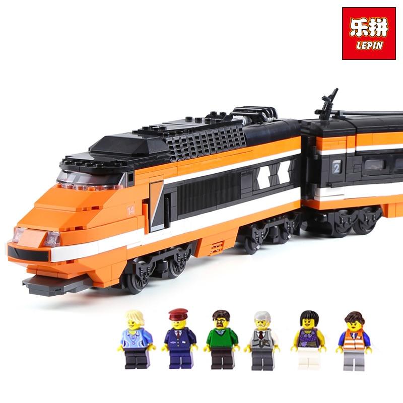 Lepin 21007 1351Pcs Horizon Express Technic Train Building Bricks Blocks Gift Toys for Children Edational LegoINGlys 10233 gift