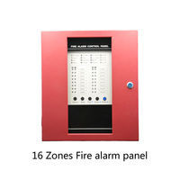 (1 set) 16 wire zones Fire Alarm Control Board Support Smoke Detector Lpg Gas leaking Home security self defense System