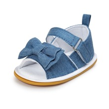Blue Baby Shoes Infant Toddler Newborn Pram Crib First Walkers Summer Striped Soft Rubber Soled Outdoor Princess Girls Shoe
