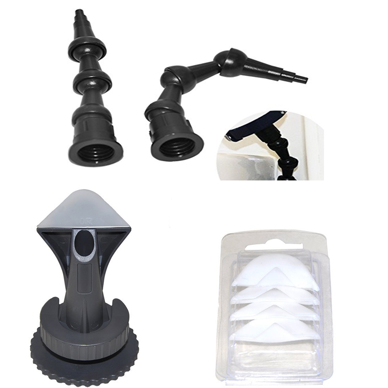 Free Shipping5sets Per Order 2pcs Revolving 360degree Bent 45degree Bent Nozzle All Corner And 1set Professional Caulking Nozzle