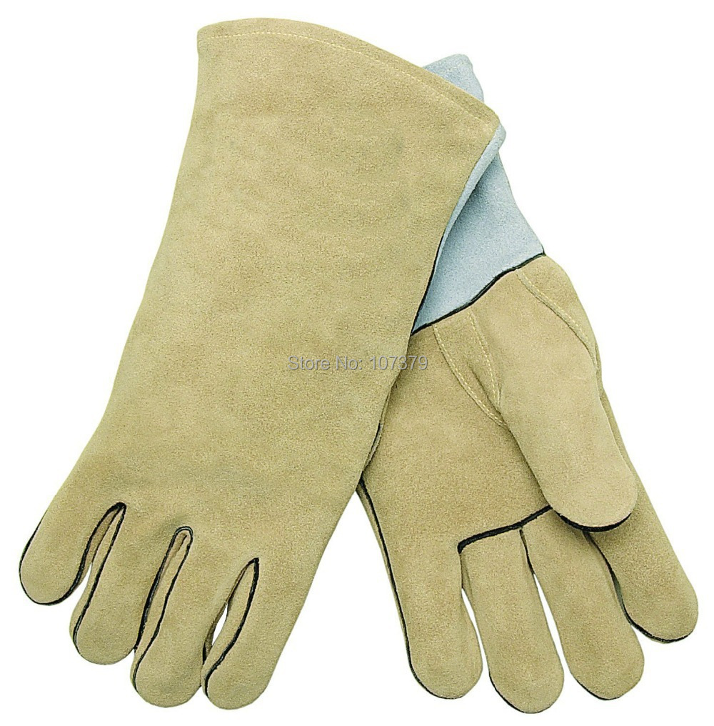 Leather palm work gloves wholesale - Leather Work Glove Welding Glove Wing Reinforced