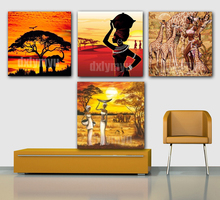3D Diamond Painting Africa Animal DIY Embroidery Cross Stitch 5D Square Mosaic Full Pictures of Rhinestones Elephants