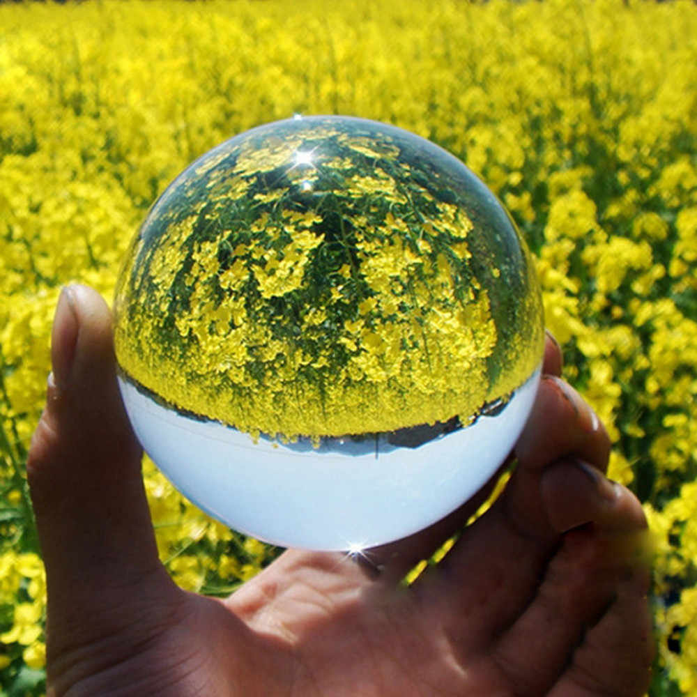 Decoration maison Clear Glass Crystal Ball Healing Sphere Photography Props Lensball Decor Gift home decoration accessories