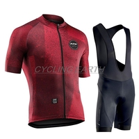 Northwave 2019 Cycling Sets Racing Clothes Summer Quick Dry MTB Bike Jersey Set Short Sleeve Professional NW Sportwear