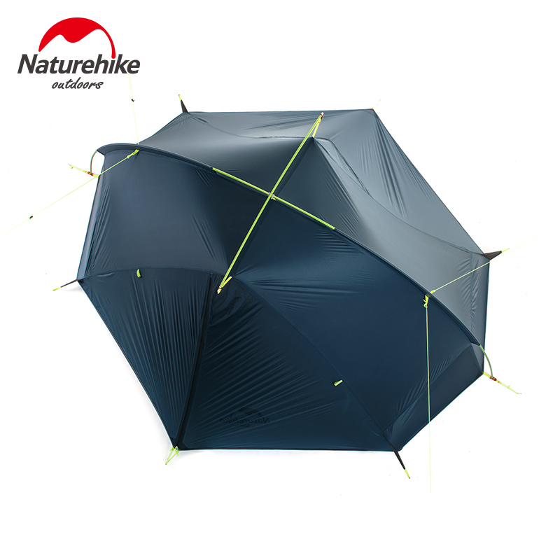 NatureHike   1/ 2 Person Hiking Tent Pro 20D Silicone Fabric Wateproof Single Pole Light Tent NH Camping Cycling Backpack high quality outdoor 2 person camping tent double layer aluminum rod ultralight tent with snow skirt oneroad windsnow 2 plus
