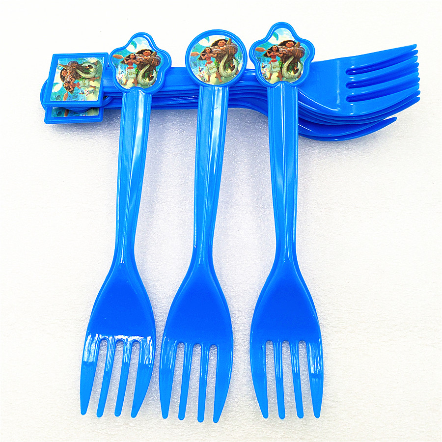 10pc Kids Birthday Moana Party Supplies Plastic disposable Forks Christmas Festival theme Party Decoration Baby Shower Favors in Disposable Party Tableware from Home Garden
