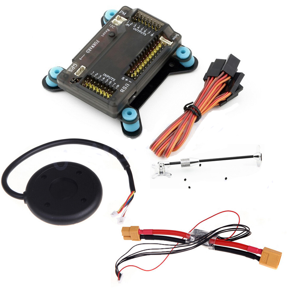 1 set APM 2.8 Flight Controller Board +Shock Absorber +NEO-6M 6M GPS w/ Stand Holder +Power Module for RC Quadcopter Multicopter ublox neo 6m gps module mini apm pro flight controller board power module xt60 plug for rc quadcopter helicopter airplane