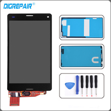 LCD Display touch screen with digitizer Assembly For Sony Xperia Z3 Mini Compact D5803 D5833 LCD + Tools Adhesive Free shipping