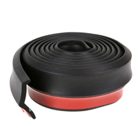 Universal 2 5M Soft Black Rubber Bumper Auto 65mm Width Car Protector Outside Front Bumper Lip