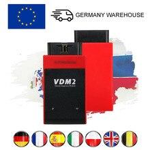 UCANDAS VDM2 VDM II V3.9 tam sistem OBD2 araç teşhis aracı OBDII ABS CSM parçaları PCM immobilizer oto kod tarayıcı wifi Android