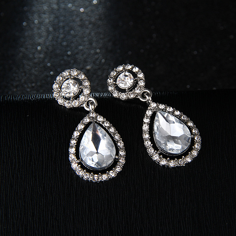 Crystal Teardrop Long Earrings Bridal Large Drop Brincos For Women Fashion Wedding Jewelry Boucle D Oreille E0252 In From