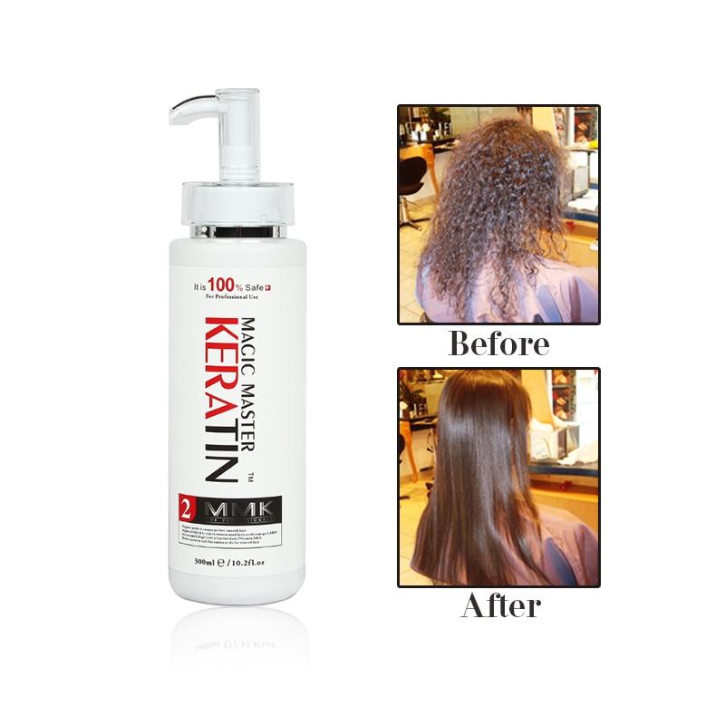 Купить с кэшбэком 300ml Magic Master Keratin Without Formalin and Pungent Odor Straight Hair Treatment+300ml Purifying Shampoo Repair Damaged Hair