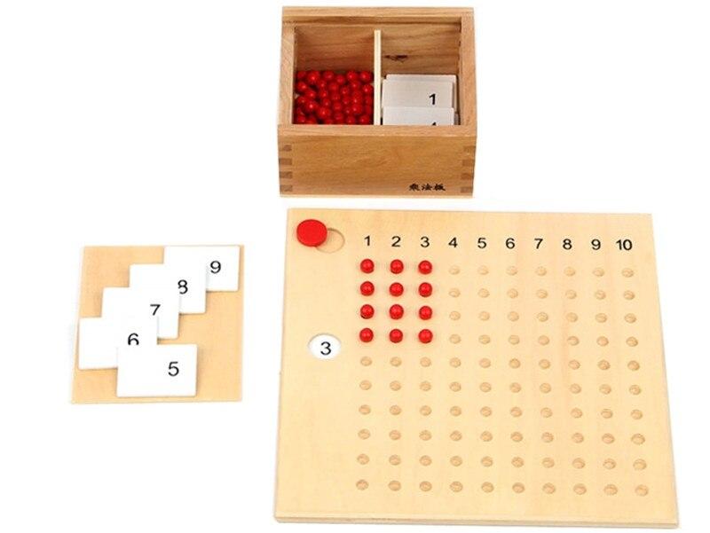 Nouveau bébé jouet Montessori Multiplication perle conseil et Division perle conseil pour l'éducation de la petite enfance préscolaire formation jouet - 2