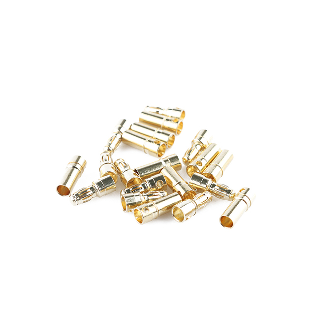 20 Pcs/lot High-performance Quality Durable 3.5mm Gold Bullet Connector Plugs Male&Female For ESC Motor&RC Battery