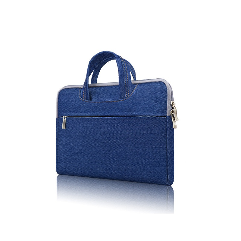 Oxford Canvas File Bag Zipper Bag Information Briefcase Portable Mens Office Meeting Bag Business Portable Fashion Wild Waterproof Laptop Bag